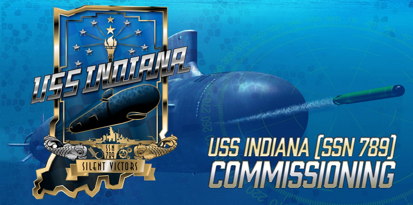 USS Indiana Submarine commissioning