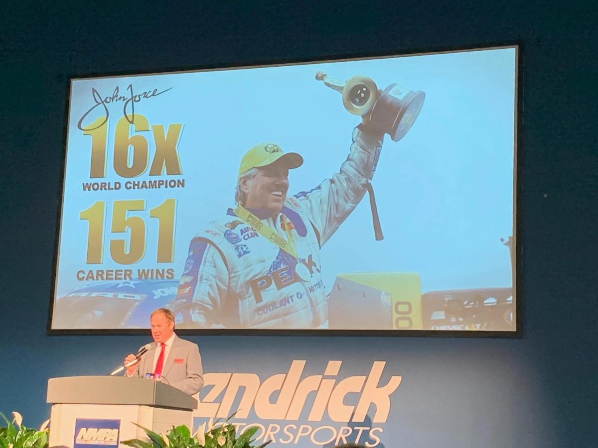 John Force Inducted Into Press Association Hall of Fame