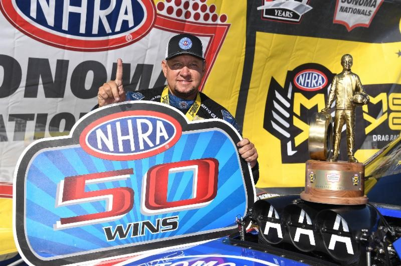 ROBERT HIGHT ACHIEVES MILESTONE 50TH WIN AT THE NHRA SONOMA NATIONALS