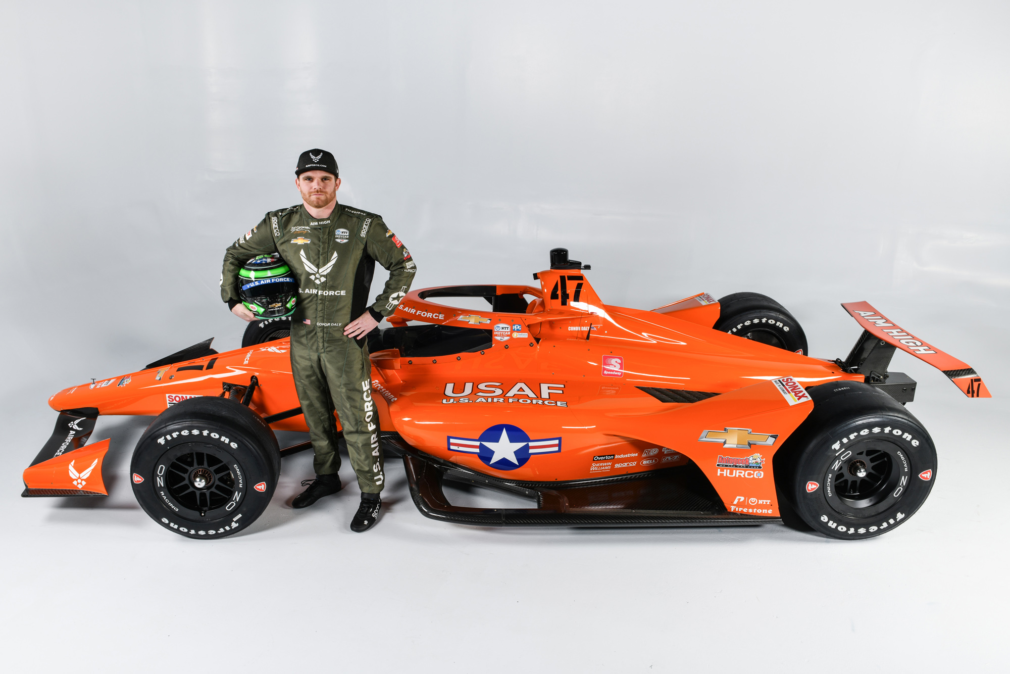 U.S. AIR FORCE UNVEILS CONOR DALY'S INDIANAPOLIS 500 CAR AND NUMBER
