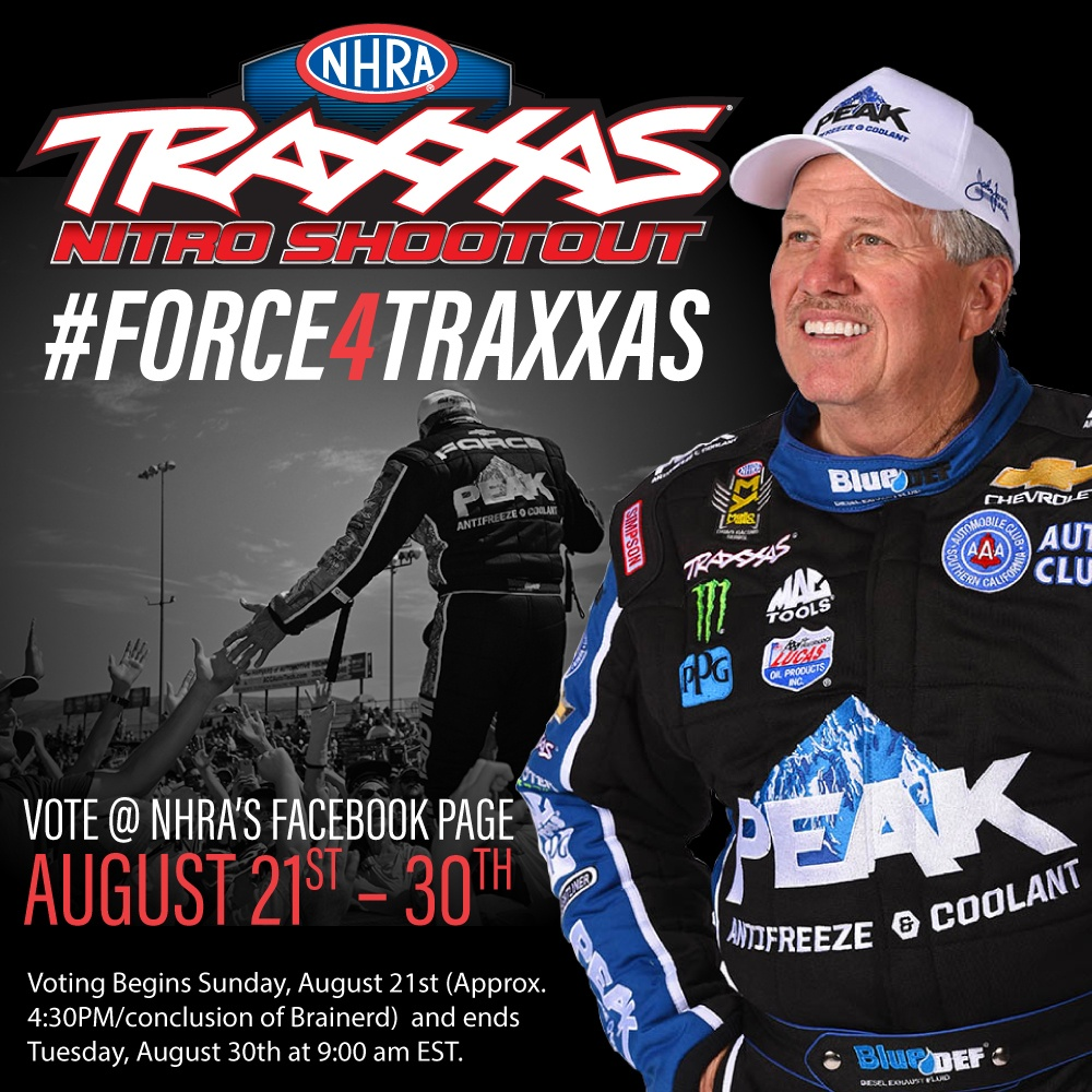 JOHN FORCE COUNTING ON FAN SUPPORT IN BID FOR 9thSHOOTOUT VICTORY