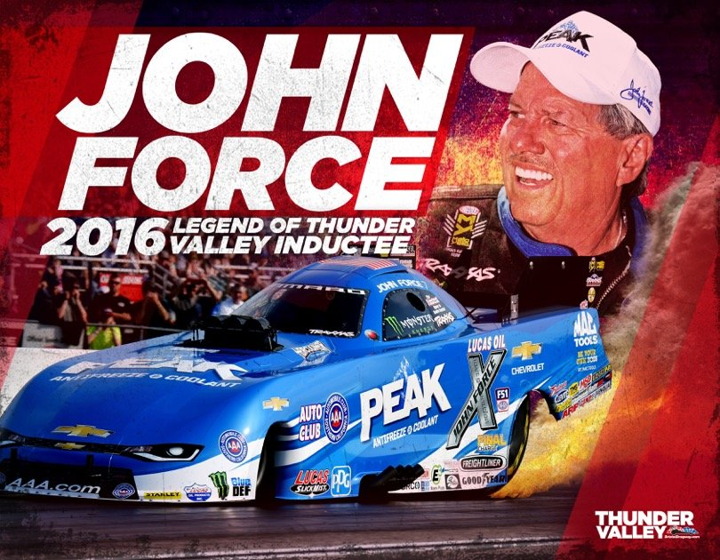 John Force to be inducted as a Legend of Thunder Valley