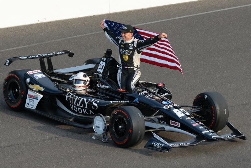 It's Race Day in Indy! The Hurco car starts from the Pole.